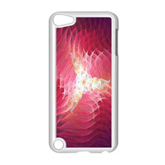 Fractal Red Sample Abstract Pattern Background Apple Ipod Touch 5 Case (white) by Amaryn4rt
