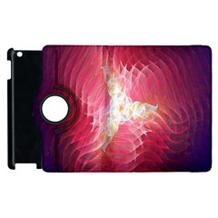 Fractal Red Sample Abstract Pattern Background Apple Ipad 2 Flip 360 Case by Amaryn4rt