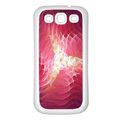 Fractal Red Sample Abstract Pattern Background Samsung Galaxy S3 Back Case (white)
