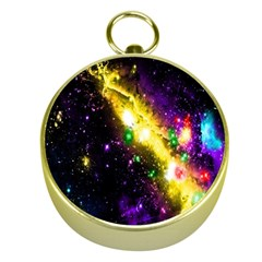 Galaxy Deep Space Space Universe Stars Nebula Gold Compasses by Amaryn4rt