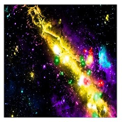 Galaxy Deep Space Space Universe Stars Nebula Large Satin Scarf (square) by Amaryn4rt