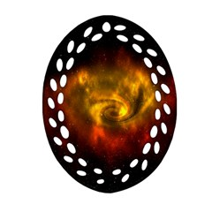 Galaxy Nebula Space Cosmos Universe Fantasy Oval Filigree Ornament (two Sides) by Amaryn4rt