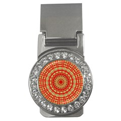 Gold And Red Mandala Money Clips (cz)