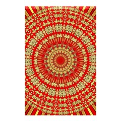 Gold And Red Mandala Shower Curtain 48  X 72  (small)  by Amaryn4rt