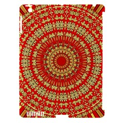 Gold And Red Mandala Apple Ipad 3/4 Hardshell Case (compatible With Smart Cover) by Amaryn4rt