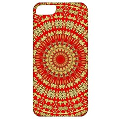 Gold And Red Mandala Apple Iphone 5 Classic Hardshell Case