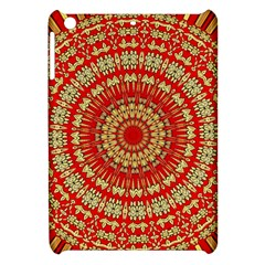 Gold And Red Mandala Apple Ipad Mini Hardshell Case by Amaryn4rt