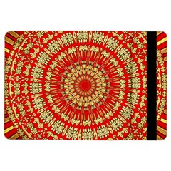 Gold And Red Mandala Ipad Air 2 Flip by Amaryn4rt
