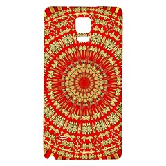 Gold And Red Mandala Galaxy Note 4 Back Case by Amaryn4rt