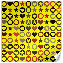Heart Circle Star Seamless Pattern Canvas 16  X 16   by Amaryn4rt