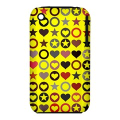 Heart Circle Star Seamless Pattern Iphone 3s/3gs by Amaryn4rt