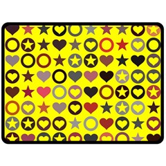 Heart Circle Star Seamless Pattern Double Sided Fleece Blanket (large)  by Amaryn4rt