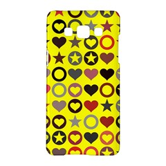 Heart Circle Star Seamless Pattern Samsung Galaxy A5 Hardshell Case  by Amaryn4rt