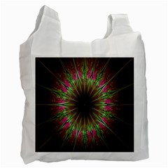 Julian Star Star Fun Green Violet Recycle Bag (two Side)  by Amaryn4rt