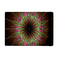 Julian Star Star Fun Green Violet Apple Ipad Mini Flip Case by Amaryn4rt