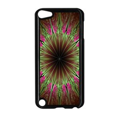 Julian Star Star Fun Green Violet Apple Ipod Touch 5 Case (black) by Amaryn4rt