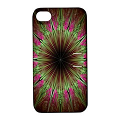 Julian Star Star Fun Green Violet Apple Iphone 4/4s Hardshell Case With Stand by Amaryn4rt