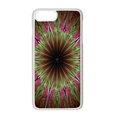 Julian Star Star Fun Green Violet Apple Iphone 7 Plus White Seamless Case by Amaryn4rt