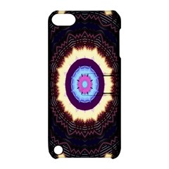 Mandala Art Design Pattern Ornament Flower Floral Apple Ipod Touch 5 Hardshell Case With Stand by Amaryn4rt