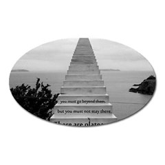 Steps To Success Follow Oval Magnet by FrontlineS