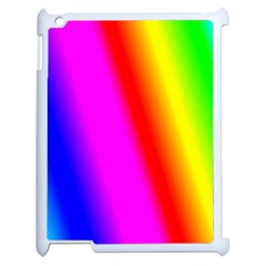 Multi Color Rainbow Background Apple Ipad 2 Case (white) by Amaryn4rt