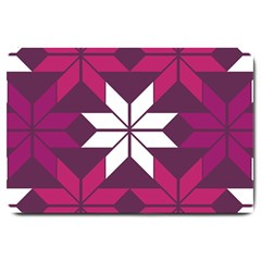 Pattern Background Texture Aztec Large Doormat  by Amaryn4rt
