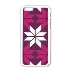 Pattern Background Texture Aztec Apple Iphone 6/6s White Enamel Case by Amaryn4rt