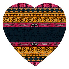 Pattern Ornaments Africa Safari Summer Graphic Jigsaw Puzzle (heart)