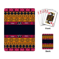 Pattern Ornaments Africa Safari Summer Graphic Playing Card by Amaryn4rt