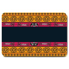 Pattern Ornaments Africa Safari Summer Graphic Large Doormat  by Amaryn4rt