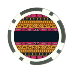 Pattern Ornaments Africa Safari Summer Graphic Poker Chip Card Guard by Amaryn4rt