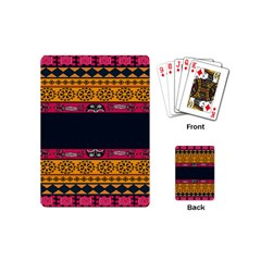Pattern Ornaments Africa Safari Summer Graphic Playing Cards (mini)  by Amaryn4rt