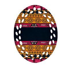 Pattern Ornaments Africa Safari Summer Graphic Ornament (oval Filigree) by Amaryn4rt