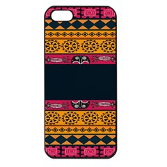 Pattern Ornaments Africa Safari Summer Graphic Apple Iphone 5 Seamless Case (black) by Amaryn4rt