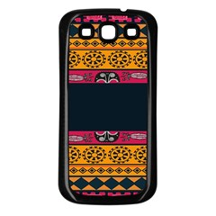 Pattern Ornaments Africa Safari Summer Graphic Samsung Galaxy S3 Back Case (black) by Amaryn4rt