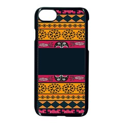 Pattern Ornaments Africa Safari Summer Graphic Apple Iphone 7 Seamless Case (black) by Amaryn4rt