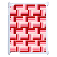 Pink Red Burgundy Pattern Stripes Apple Ipad 2 Case (white) by Amaryn4rt