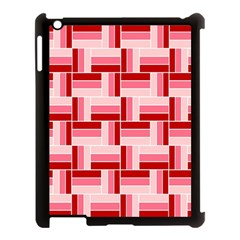 Pink Red Burgundy Pattern Stripes Apple Ipad 3/4 Case (black) by Amaryn4rt