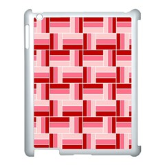 Pink Red Burgundy Pattern Stripes Apple Ipad 3/4 Case (white) by Amaryn4rt