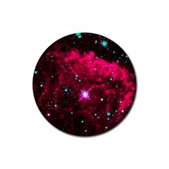 Pistol Star And Nebula Rubber Coaster (round)  by Amaryn4rt