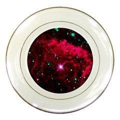Pistol Star And Nebula Porcelain Plates by Amaryn4rt