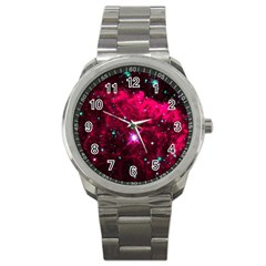 Pistol Star And Nebula Sport Metal Watch by Amaryn4rt