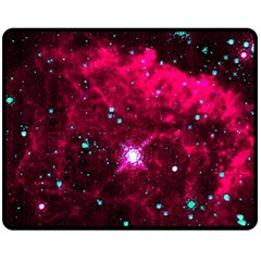 Pistol Star And Nebula Fleece Blanket (medium)  by Amaryn4rt