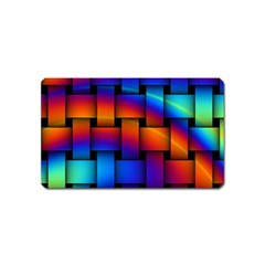 Rainbow Weaving Pattern Magnet (name Card) by Amaryn4rt