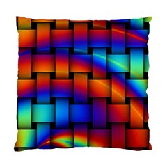 Rainbow Weaving Pattern Standard Cushion Case (two Sides) by Amaryn4rt