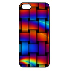 Rainbow Weaving Pattern Apple Iphone 5 Seamless Case (black) by Amaryn4rt