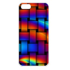 Rainbow Weaving Pattern Apple Iphone 5 Seamless Case (white) by Amaryn4rt