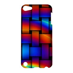 Rainbow Weaving Pattern Apple Ipod Touch 5 Hardshell Case by Amaryn4rt