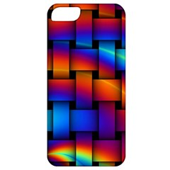 Rainbow Weaving Pattern Apple Iphone 5 Classic Hardshell Case by Amaryn4rt