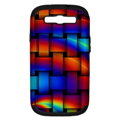 Rainbow Weaving Pattern Samsung Galaxy S Iii Hardshell Case (pc+silicone) by Amaryn4rt